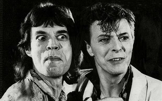 Risultati immagini per Mick Jagger e David Bowie