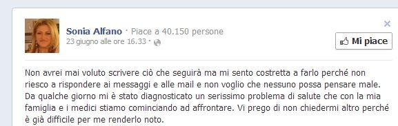 Lo status di Sonia Alfano