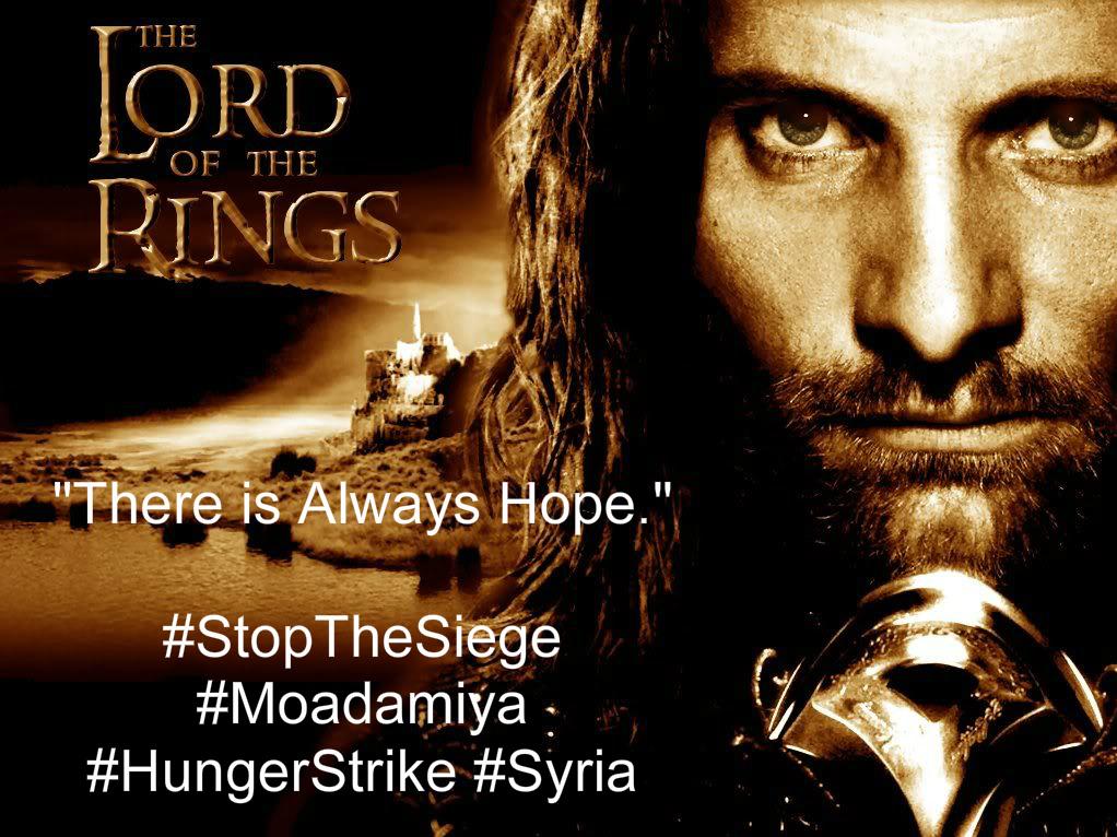 Il Signore degli Anelli, la pioggia e Moadamiya – Sciopero della fame sotto assedio