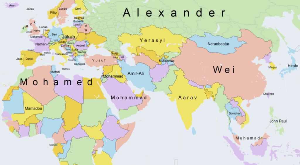 Europa E Asia Cartina.Young Paese Che Vai Nome Che Trovi La Mappa Young