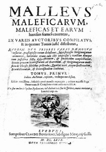 Frontespizio di un'edizione del Malleus maleficarum risalente al 1669