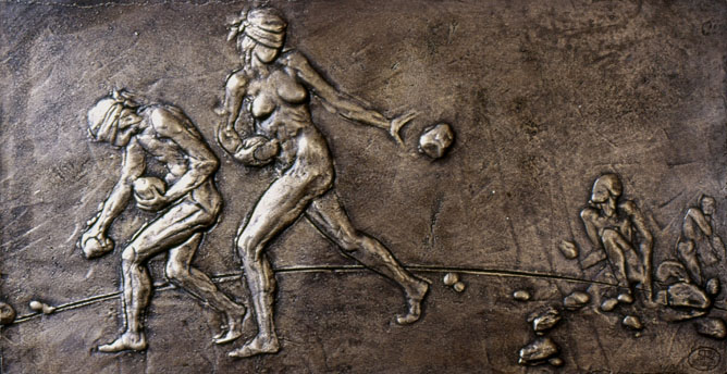 Salvatore Rizzuti, bassorilievo-bronzo (1984) -fonte web-