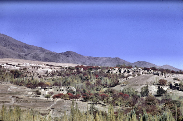 A residential hillside in Kabul.