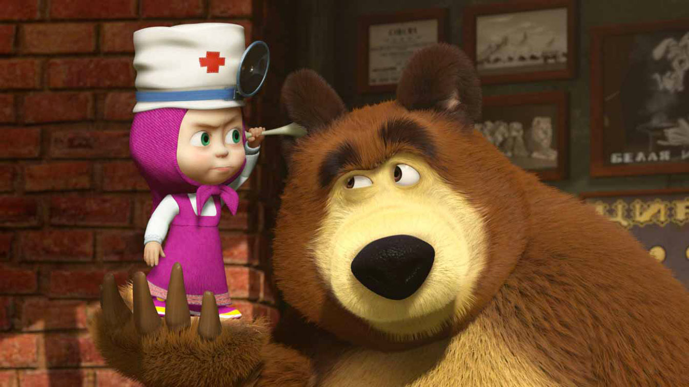 Young masha e orso: la russia invade litalia con i cartoon young