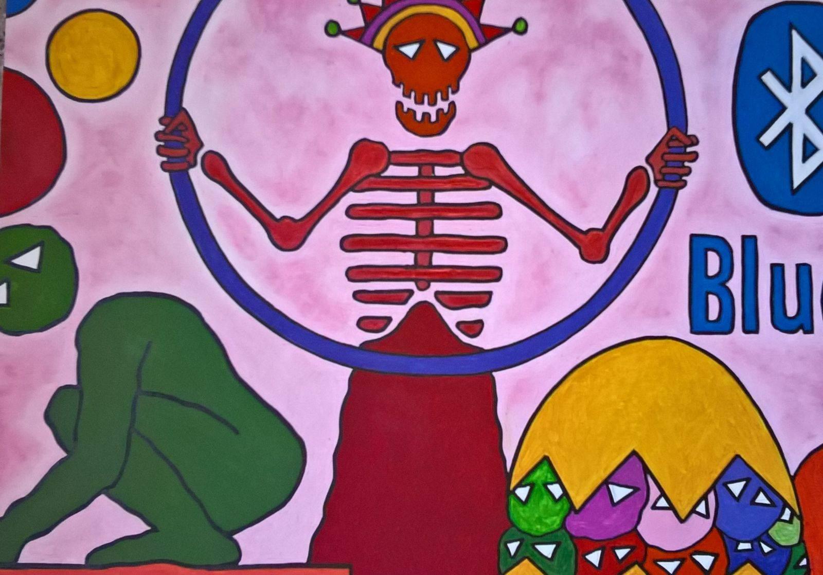 D. Ferro, Il re della morte, acrilico su tela, cm 50x70, 2017