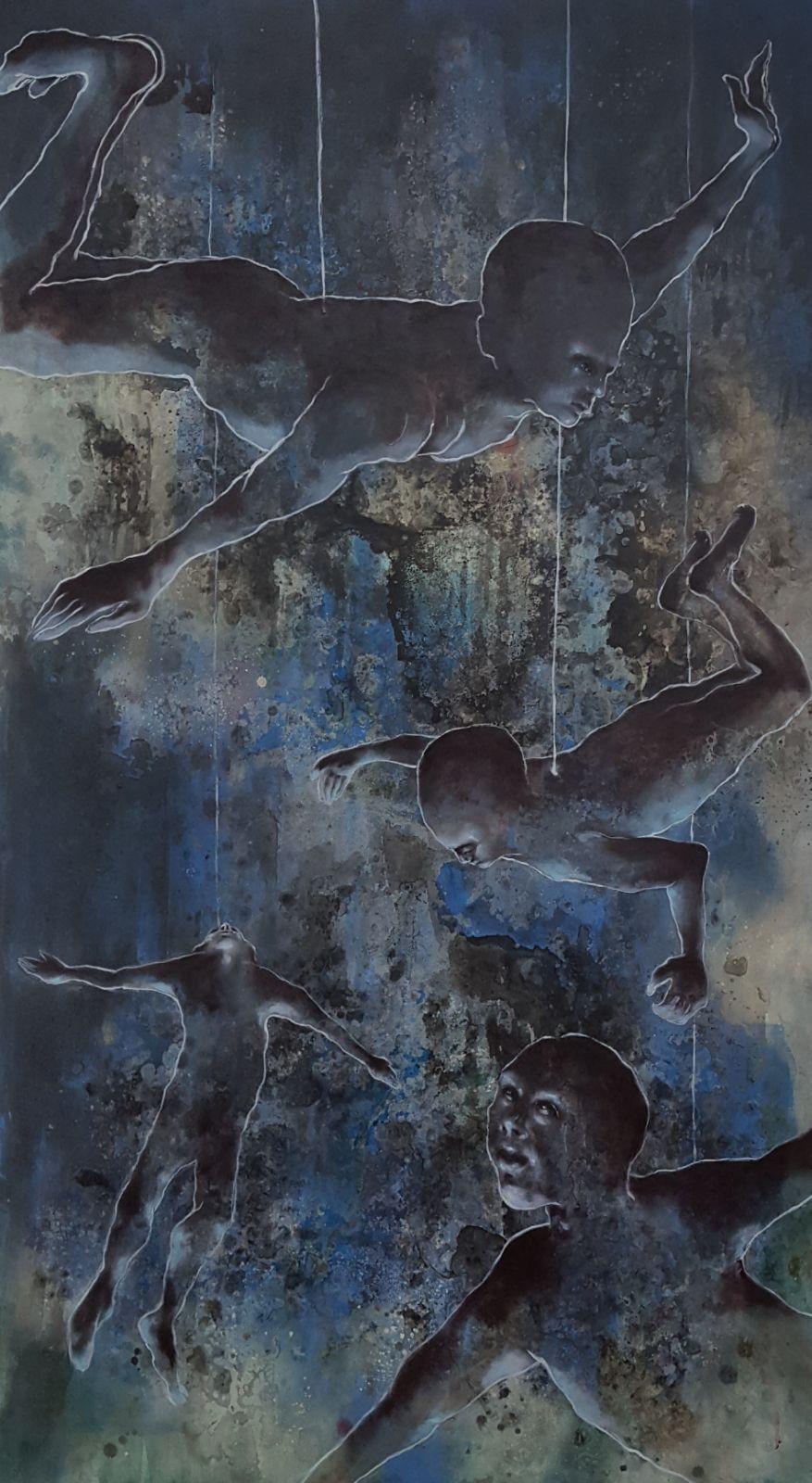 Rasta, Distress 2, tecniche miste, 2017
