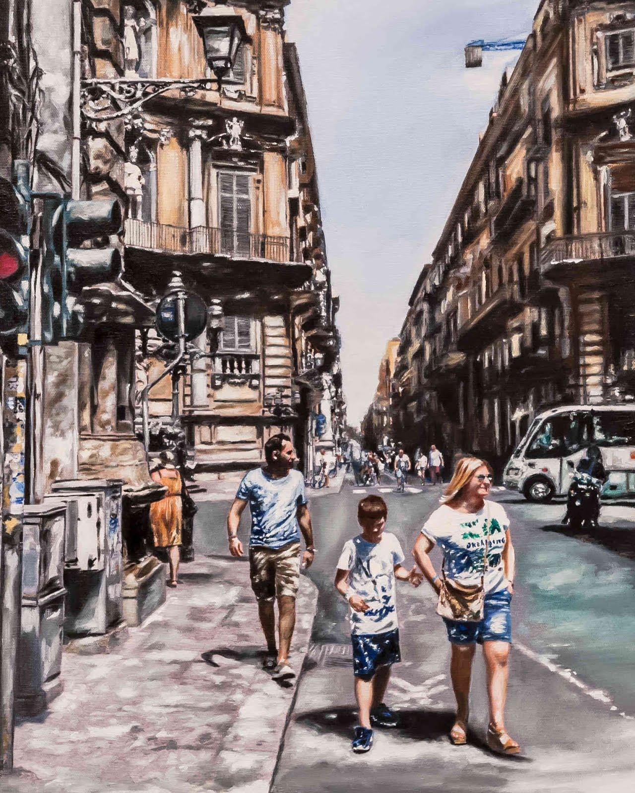Canti Liberi, acrilico su tela, 50x40 cm, 2018
